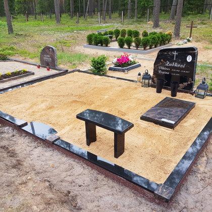 8.Kapu labiekārtošana, kapu sētiņa, kapu piemineklis, kapu apmale.