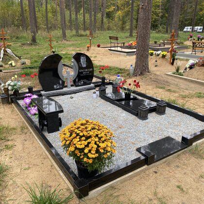 2. Kapu labiekārtošana, kapu sētiņa, kapu piemineklis, kapu apmale.