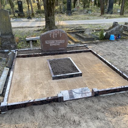 14. Kapu labiekārtošana, kapu sētiņa, kapu piemineklis, kapu apmale.